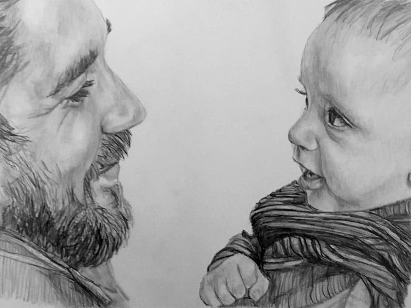 father and son people portrait