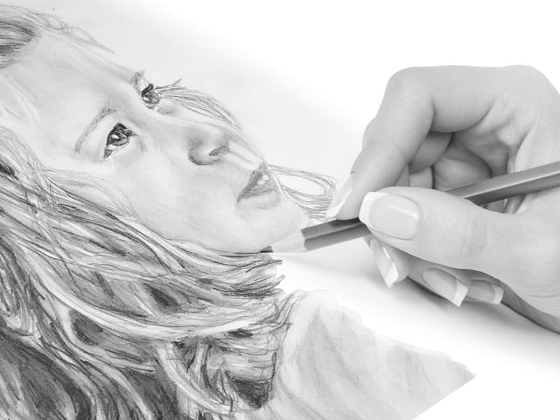 mobile pencil portraits