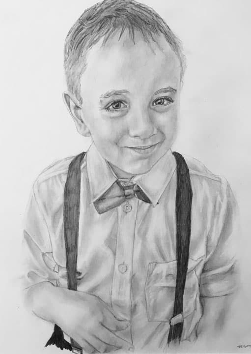 people portrait boy with bow tie