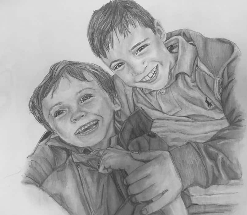 people portraits two boys