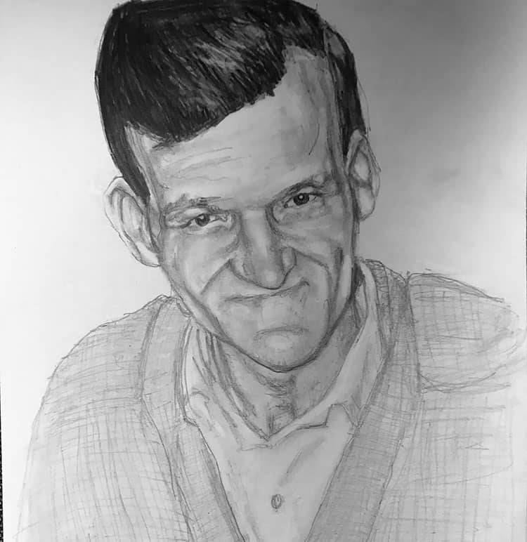 pencil portrait man