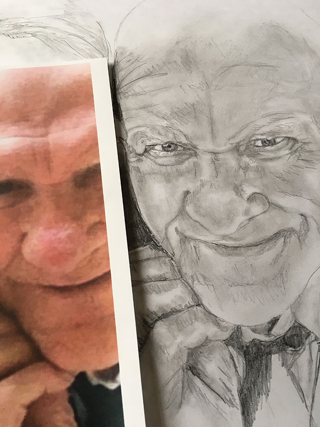 dad pencil portrait