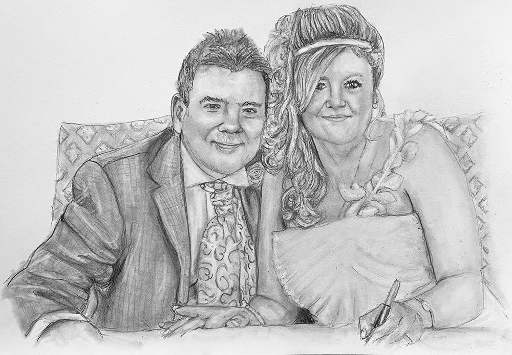 wedding pencil portrait